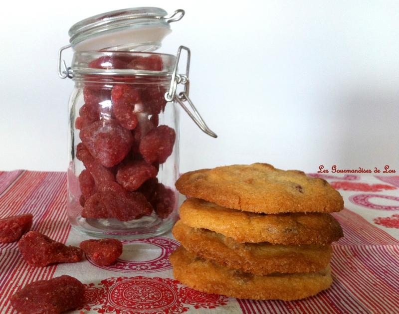 Cookies fraise chocolat blanc