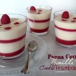 Panna cotta vanille - coulis de framboises