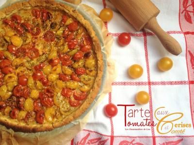 Tarte aux tomates cerises et comté