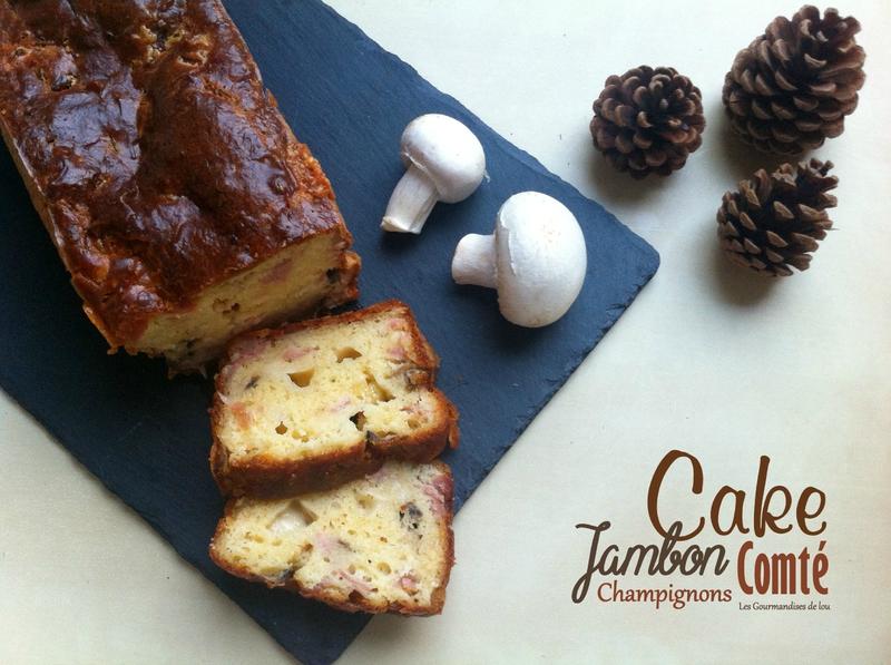 Cake jambon champignons comté