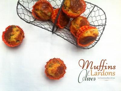 Muffins lardons olives