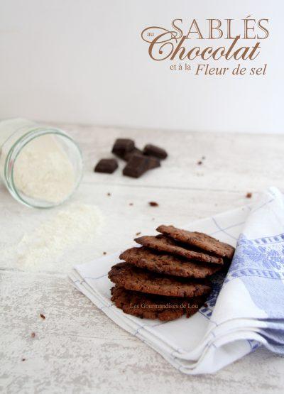 Sables au chocolat et a la fleur de sel