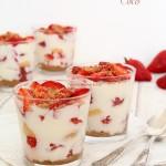 Verrines fraises – coco – citron