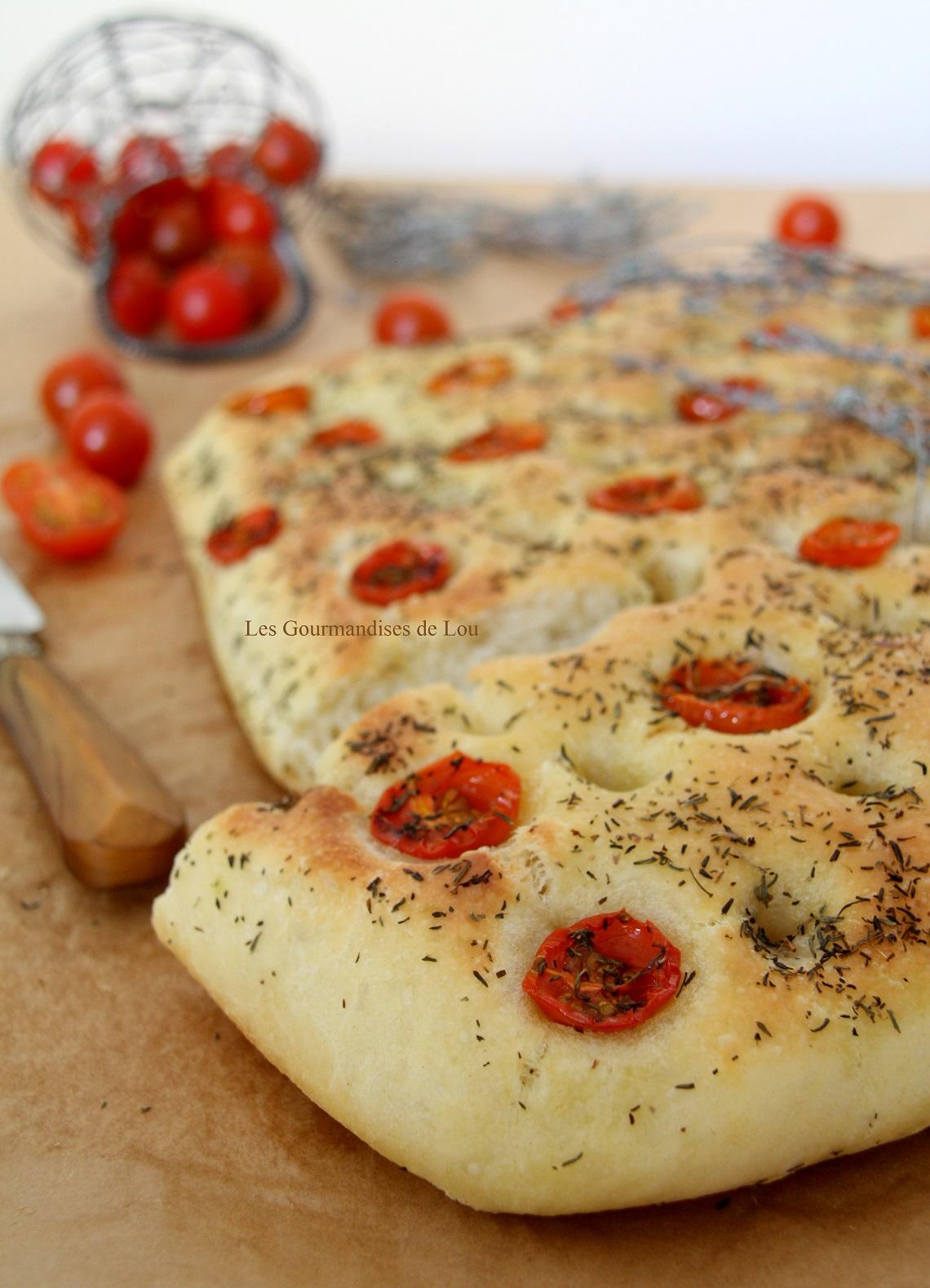 Focaccia tomates cerises & thym