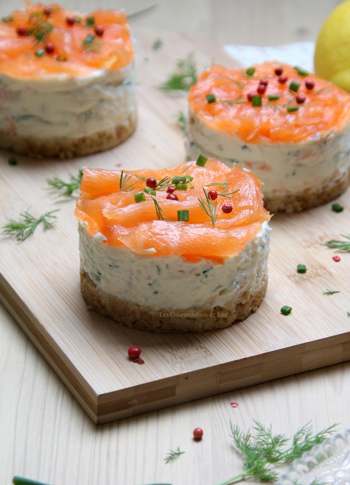 Cheesecake au saumon fum les gourmandises de lou for Entree sans poisson