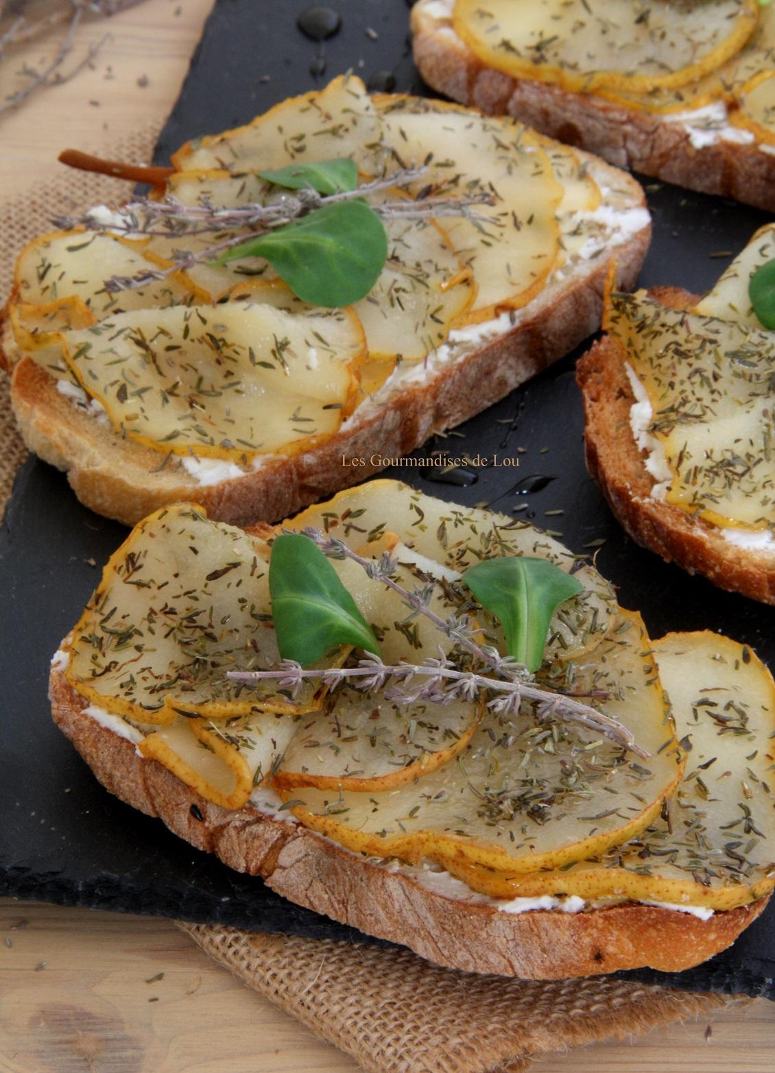 bruschetta-chevre-poire-thym