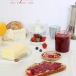 Confiture fraise – framboise – vanille