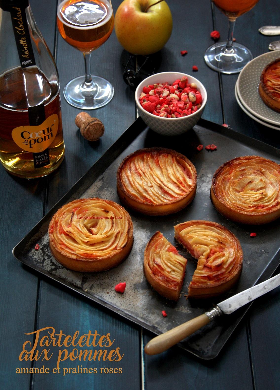 tartelettes-aux-pommes-creme-d-amande-aux-pralines-roses
