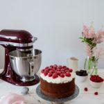 gateau moelleux chocolat framboises