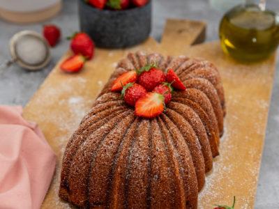 bundt cake fraise huile d olive