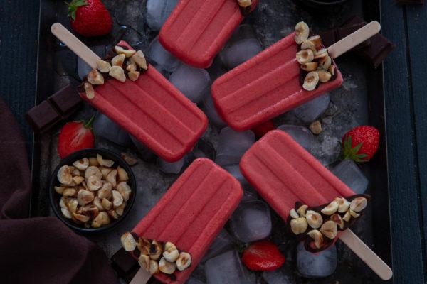 esquimaux fraise chocolat noisette
