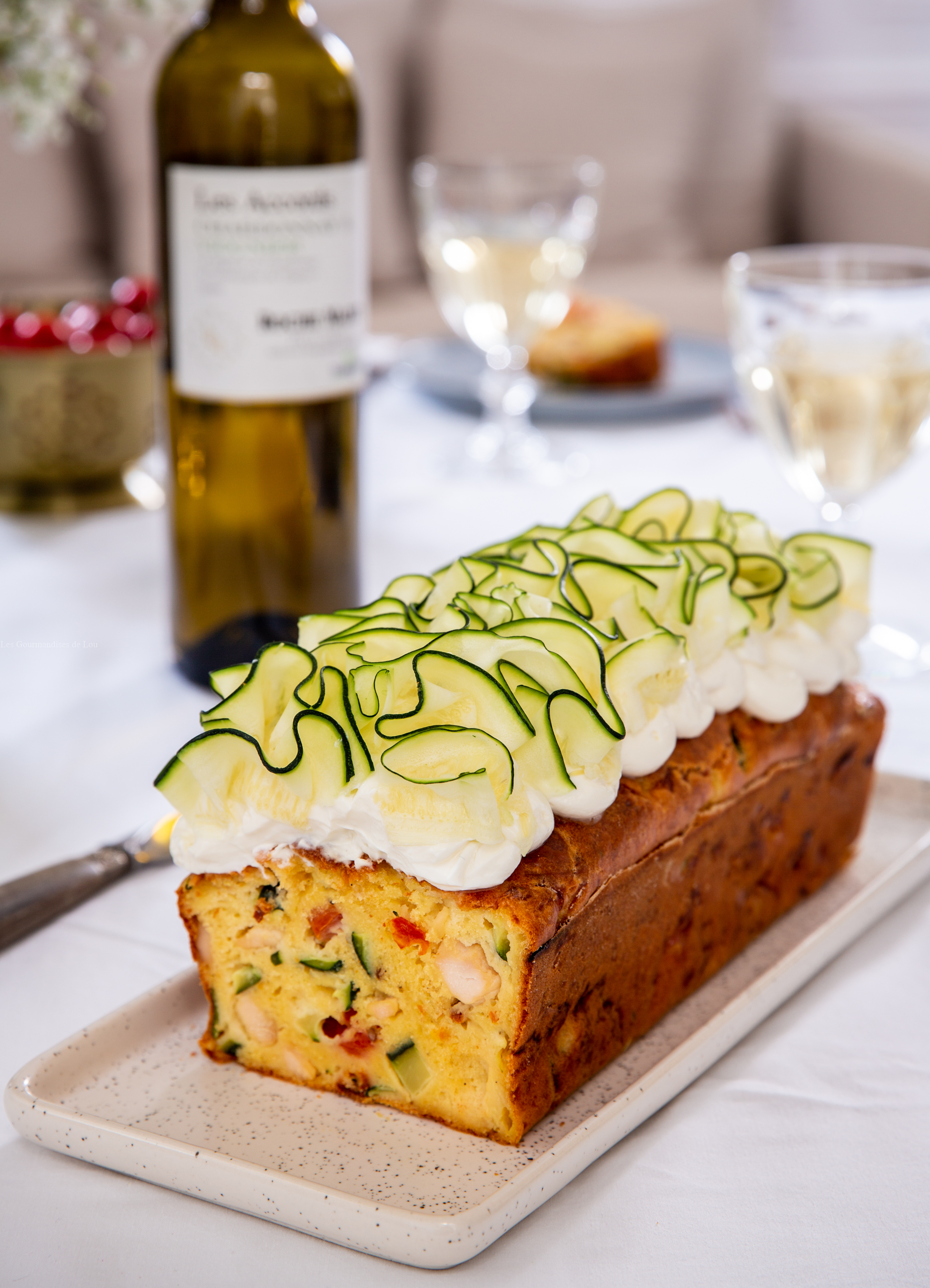 cake poulet tomate courgette