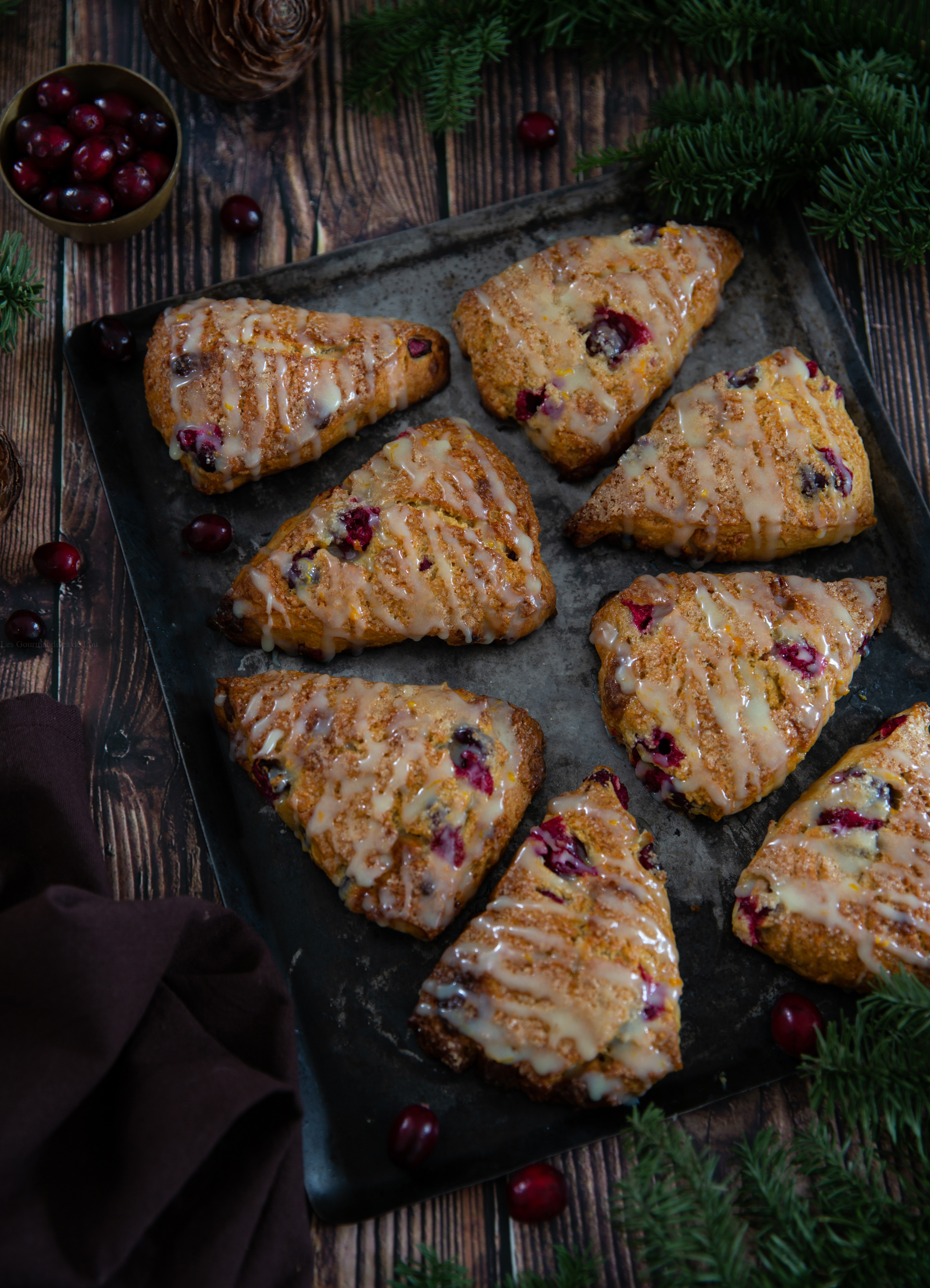 scones cranberries chocolat blanc
