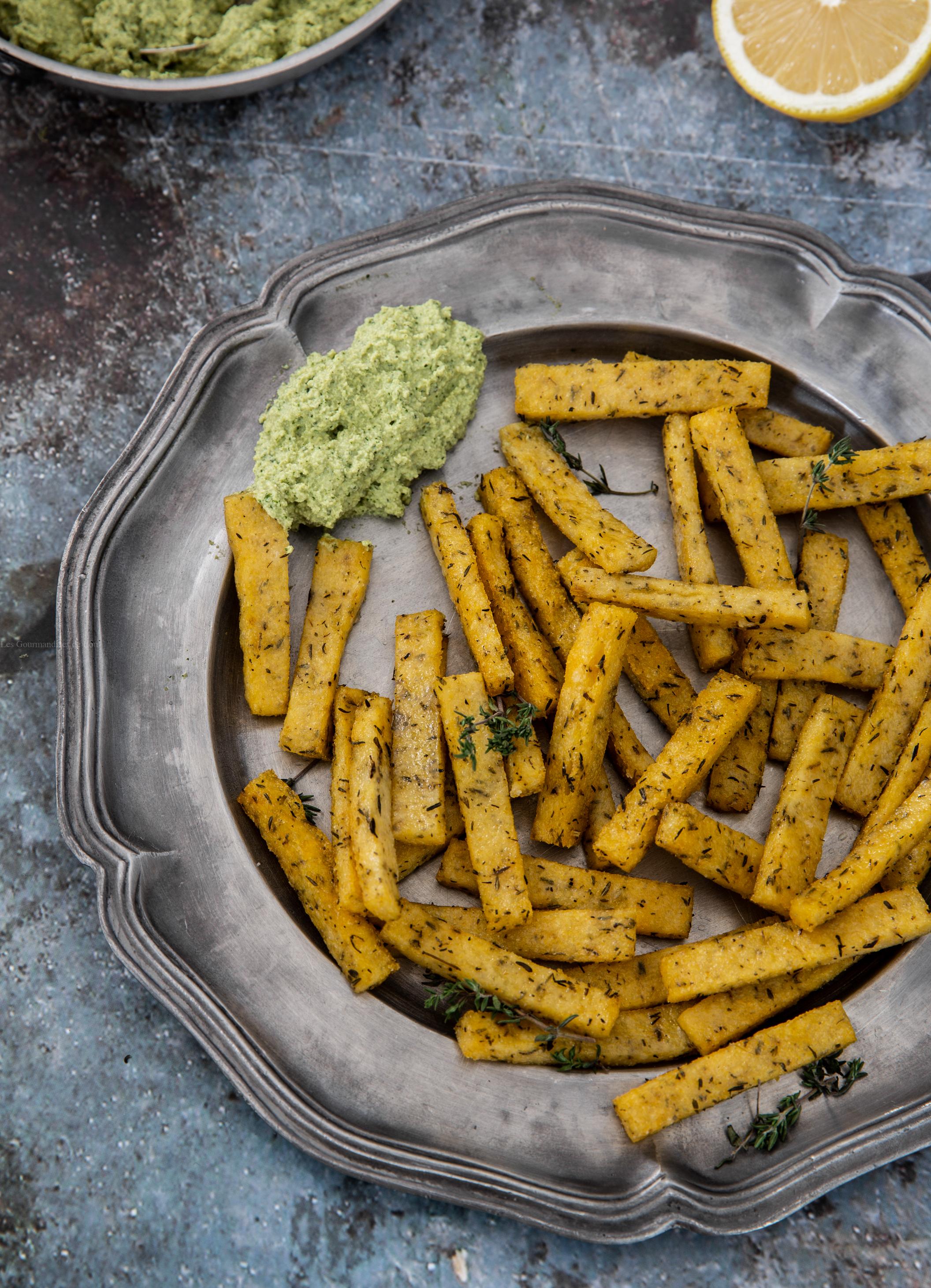 frites de polenta au thym au four