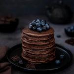 Pancakes au chocolat au cœur fondant