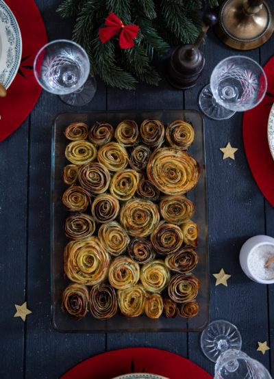gratin de pommes de terre fleurs