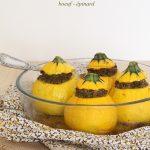 Courgettes farcies (boeuf – épinard)