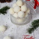 Truffes chocolat blanc – noix de coco