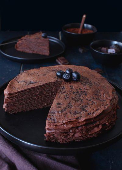 gateau de crepes au chocolat intense