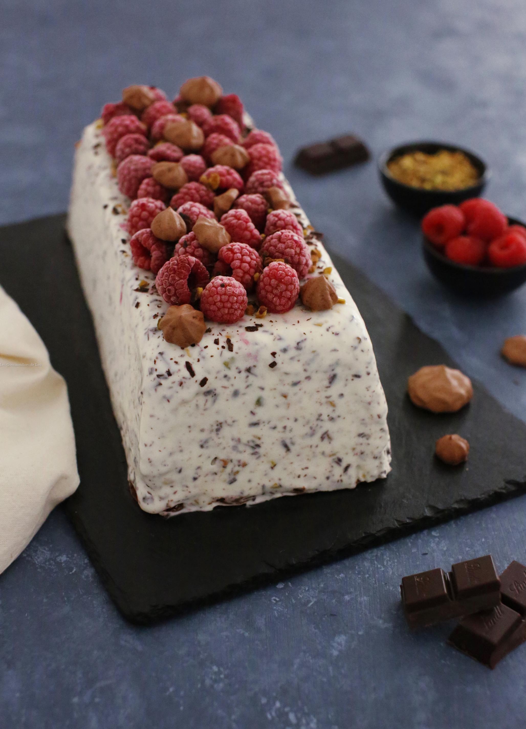 Recette Glace Pistache Sans Oeufs terrine glacée stracciatella, framboise, pistache et