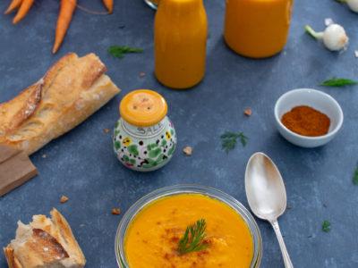 gaspacho de legumes crus carotte courgette poivron