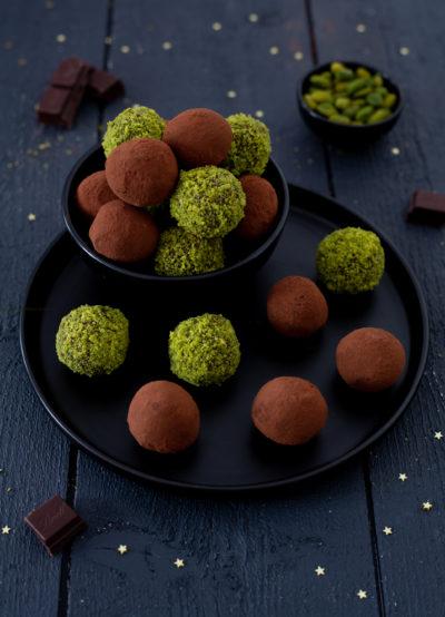 truffes chocolat pistache