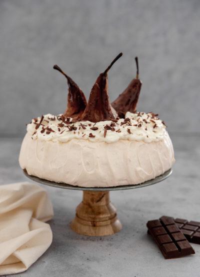 Pavlova poire chocolat