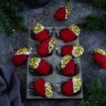 Madeleine red velvet chocolat blanc pistaches