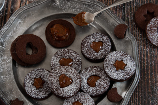 sables au cacao et confiture de lait